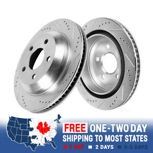Rear Drilled And Slotted Brake Rotors For Chevy S 10 Blazer Pickup Jimmy Sonoma