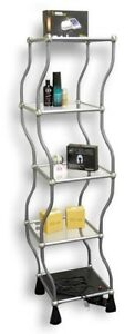 Dancing Rotating Shelf Stand 5 tier Display Unit For Retail Dazzle And