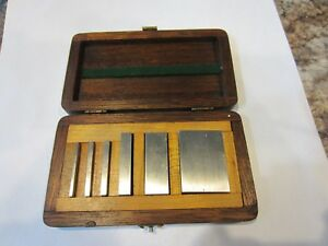 Rare Suro Vintage Precision Gauge Blocks Case Machinist Gage 0625 1 Mint