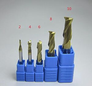 Hrc58 2 Flutes 2 4 6 8 10 Mm Tungsten Carbide End Mills Set Milling Cutter Cnc