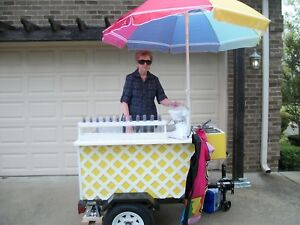 Concession Trailer shaved Ice Cart lemonade Cart Hot Dog Cart