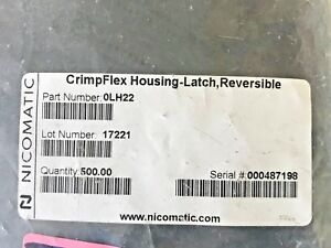 1000 Nicomatic 0lh22 Latched Reversible Crimpflex Housing New Free Ship
