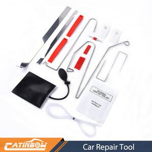 12pcs Door Key Lost Lock Out Emergency Open Unlock Tool Kit Air Pump For Car