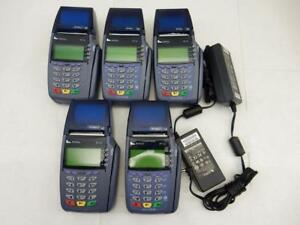Lot Of 5 Verifone Credit Card Terminal Omni 5100 Vx510 With Power Cord As is