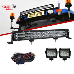 22inch 120w Led Light Bar Flood Spot Combo Light Tractor Offroad Car Boat