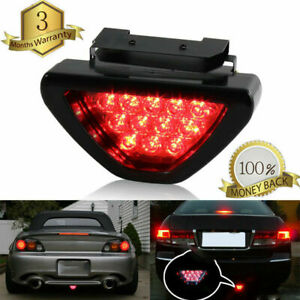 Rear Brake Light License Plate Lamp F1 Style 12 Led Signal Bumper Tail Stop Red