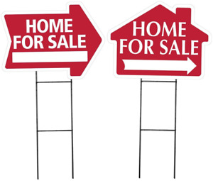 Large arrow And House Shaped Home For Sale Sign Kit Combination