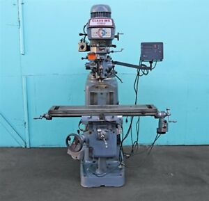 Clausing Kondia 9 X 48 Vertical Milling Machine W X Z axis Powerfeeds Kv 1