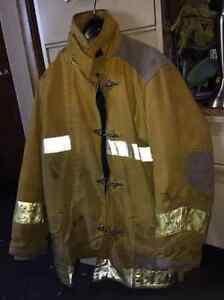 Janesville Firefighter Turnout Coat Firemens Size 42 35 With Thermal Liner