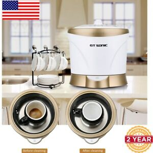 Stainless Steel Tank Ultrasonic Cleaner Jewelry Watches Coffee tea Cup Cleaning