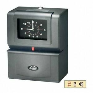 Lathem Time Company Automatic Time Clock Day Of Week hours m Charcoal