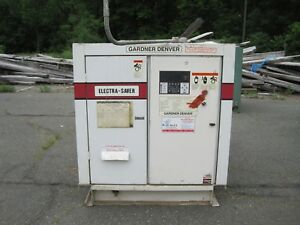 Gr Gardner Denver Eap99j Electric Skid Mounted Air Compressor 100 Hp Liquid Cool