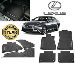 Lexus Gs350 Gs450h Gs300 2013 2018 rwd 4pc Oem Genuine All Weather Floor Mats