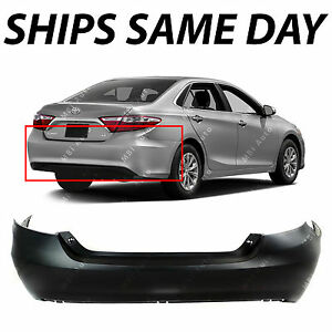 New Primered Rear Bumper Cover Replacement For 2015 2016 2017 Toyota Camry 15 17
