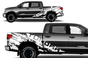 Vinyl Graphics Decal Wrap Kit Torn T For 07 13 Toyota Tundra Truck Crewmax White
