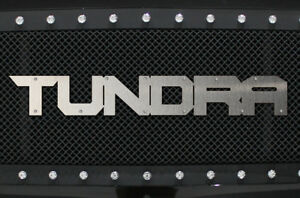 Custom Stainless Steel Tundra Grille Badge For Toyota Tundra Trd Truck Universal