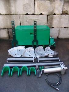 Greenlee 885te 2 1 2 3 3 1 2 4 Inch Emt Hydraulic Bender Electric Pump