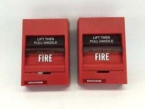 x2 Edwards Fire Alarm Station 278b 1110 Double Action Noncoded 2 Pack