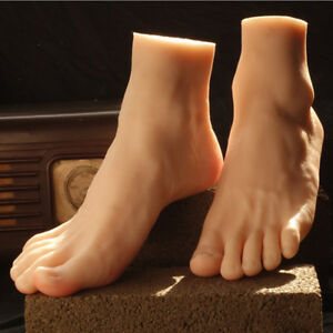 Male Silicone Foot Model mannequins Display Shoes 42 Normal Skin Color A335
