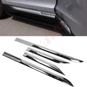 4pcs Abs Chrome Car Body Kit Door Side Strip Cover Trim For Ford Edge 2015 2017