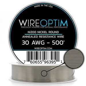Wireoptim Annealed Ni200 Nickel 30 Gauge Awg 500 Non Resistance Wire