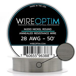 Wireoptim Annealed Ni200 Nickel 28 Gauge Awg 50 Non Resistance Wire