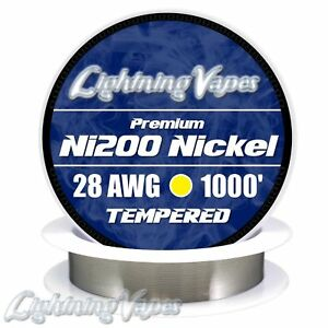 Tempered Ni200 Nickel Wire 28 Awg 0 32mm 1000