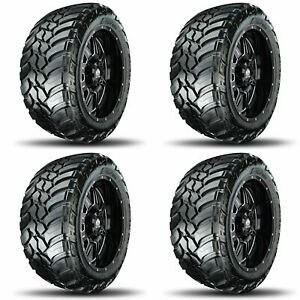 4x Amp 37x13 50r22lt Mud Terrain Attack M t A Off Road Truck suv Tires A s 10p