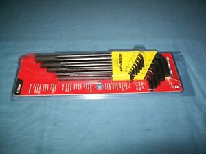 New Snap On Awxl13 050 3 8 Hex End Extra Long Allen Hex Ket Set Sealed