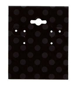 Black Dots Earring Cards 250 Included