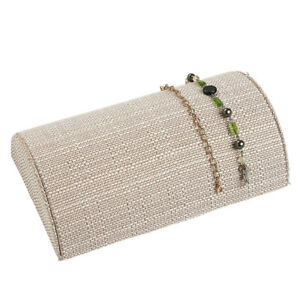 Half Moon Linen Bracelet Display 10 Pack