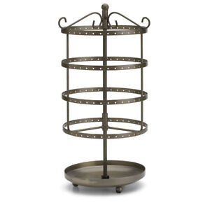 Small Tiered Round Rotating Jewelry Display 3 Included