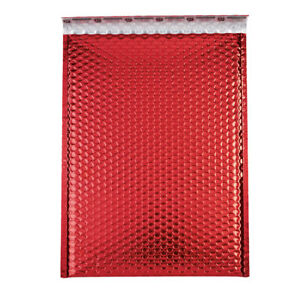 Large Red Glamour Bubble Mailers Case Of 100
