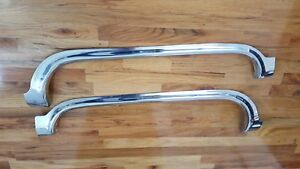 1955 Cadillac Fender Skirts Stainless Set Pass Driver Sides R l