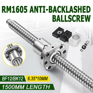 Ball Screw Ballscrew Rm1605 1500mm Bk bf12 6 35 10mm Couplers For Cnc