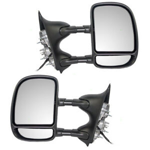 Ford Super Duty Pickup Truck Excursion Set Of Telescopic Tow Side Power Mirrors