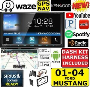2001 04 Mustang Kenwood Waze Navigation Apple Android Bluetooth Usb Car Stereo