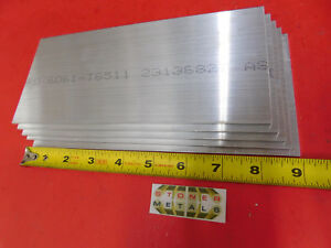 5 Pieces 1 8 X 4 Aluminum 6061 Rectangle Bar 9 Long Plate New Mill Stock 125
