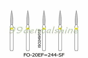50pcs Fo 20ef 244 sf Flame New Dental Diamond Fg Burs For High Speed Handpiece