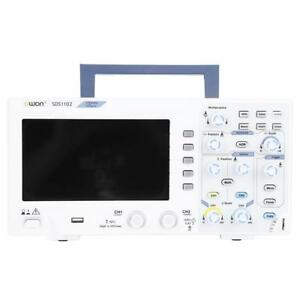Owon Sds1102 Digital Oscilloscope 100mhz 2 Channel 1gs s Smple Rate 7 Lcd