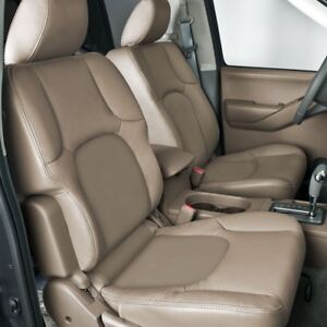 Custom Leather Upholstery For Nissan Frontier 2 Row Seating