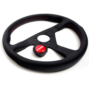 Momo Steering Wheel 350mm Montecarlo W red Stitch Mcl35bk3b