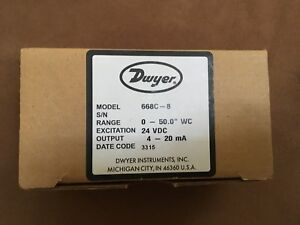 Dwyer 668c 16 Compact Differential Pressure Transmitter 668c 1634 10 4416420
