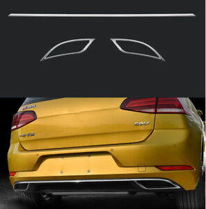 For Vw Golf 7 5 Mk7 2018 Rear Tail Pipes Trims Tail Decorative Stickers Frame