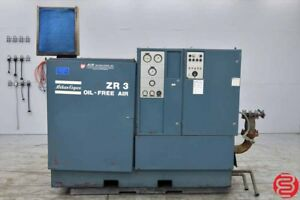 Atlas Copco Zr 3 Oil free Rotary Screw Air Compressor