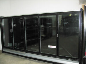 5 Glass Doors Freezer Grocery Convenience Store Food Ice Cream 12 Feet 10 Wide