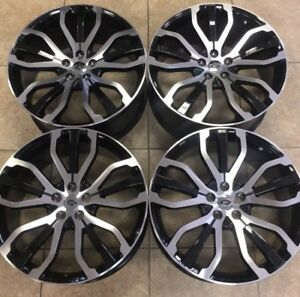 22 Range Rover Stormer Style Rims Wheels Land Rover Autobiography Blk