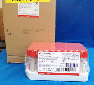 Case Of 1000 Bd Vacutainer Serum Blood Collection Tubes Model 367812