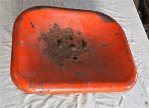 Vintage Tractor Seat Orange Large Rectangle 18 X 14 Perfect For Wide Load