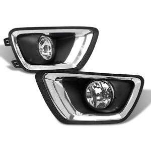 2015 2017 Chevy Colorado Truck Front Lower Bumper Driving Fog Lights Lamp Chrome